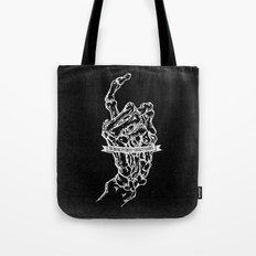 Bone Hand [on black]  Tote Bag