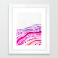 AGATE Inspired Watercolor Abstract 08 Framed Art Print