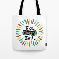 Kick Cancer's Butt Tote Bag