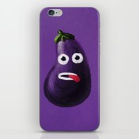 Stressed Out Eggplant iPhone & iPod Skin