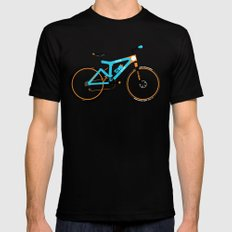 Mountain Bike SMALL Mens Fitted Tee Black