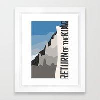 Minimalist - The Return of the King Framed Art Print