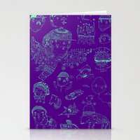 Space sketch Stationery Cards