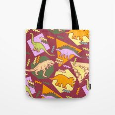 Nineties Dinosaur Pattern version 2. Tote Bag