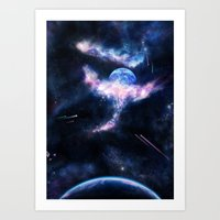 Space Scene Zero One Art Print