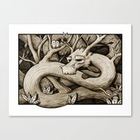 Tree Dragon Canvas Print