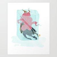 Encased Art Print