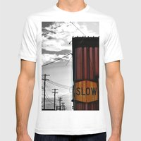 Slow Your Roll Mens Fitted Tee White SMALL