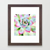 Watercolor Succulent Framed Art Print