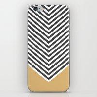 Gold Chevron iPhone & iPod Skin