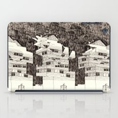 Deconstructed Buildings at Night iPad Case
