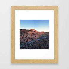 Sleepy Volcano Sunrise Framed Art Print