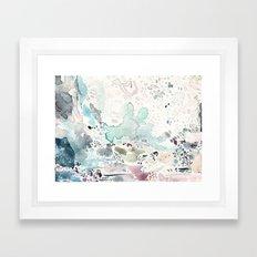 Blue Watercolor Framed Art Print