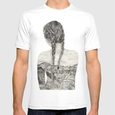 All That Is Left Is The Trace Of A Memory SMALL Mens Fitted Tee White