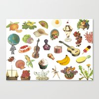 pop miscellany Canvas Print