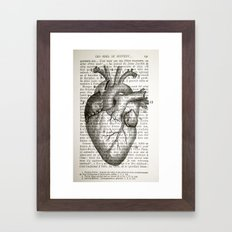 Anatomical Heart on French Framed Art Print