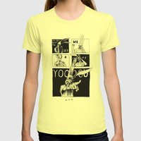 For Those About To Rock Womens Fitted Tee Lemon SMALL