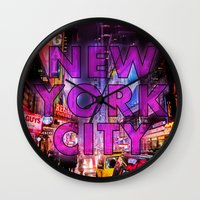 New York City - Color Wall Clock