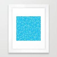 Ab Outline Electric Framed Art Print