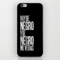 Voy De Negro — Letterp… iPhone & iPod Skin