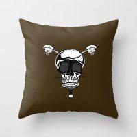 Baseball Skulls And Treb… Throw Pillow