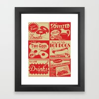 Retro Kitchen Advertising (no. 1) Framed Art Print
