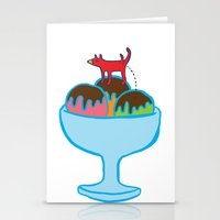 Ice-cream dog Stationery Cards