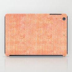 Stockinette Orange iPad Case