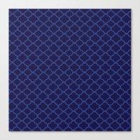 Blue Graphic Flower Canvas Print