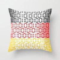 Digital Flag (Germany) Throw Pillow