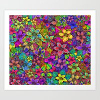 FLOWERS MISH MASH Art Print