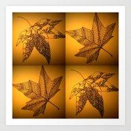 Sepia Leaf Study Art Print