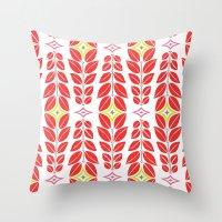 Cortlan | Cherry Red Throw Pillow