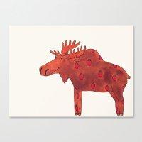 Strawberry Moose Canvas Print