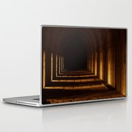 Tunnel In Golden Light Laptop & iPad Skin