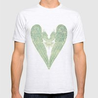 Battered Vintage Heart Mens Fitted Tee Ash Grey SMALL