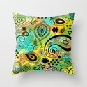 Crazy Paisley Throw Pillow