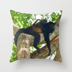 Momma Monkey & Baby Throw Pillow