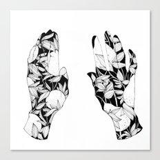 Hands together Canvas Print
