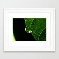 Droplet Framed Art Print