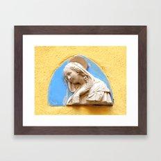 Gratia plena Framed Art Print