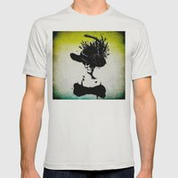 mrs skeleton Mens Fitted Tee Silver SMALL