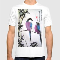 Blue Bird Mens Fitted Tee White SMALL