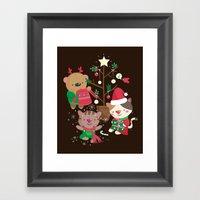 Holiday Crew Framed Art Print