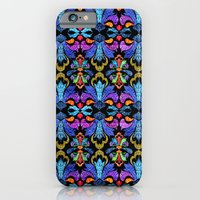 iPhone & iPod Case featuring Dramatic Damask by virginia odien