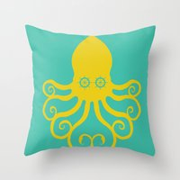 The Kraken Encounter Throw Pillow