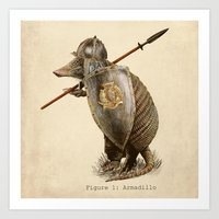 Armadillo (option) Art Print