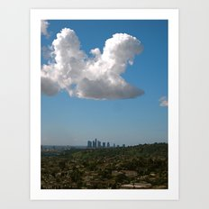 Los Angeles Skies Art Print
