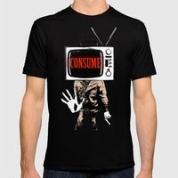 Consume Mens Fitted Tee Black SMALL