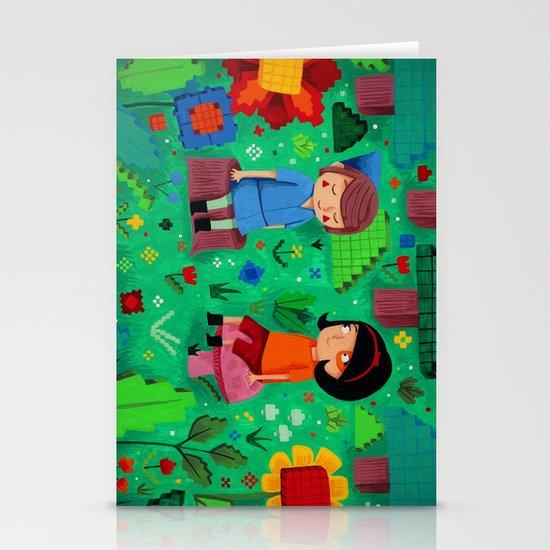 Pixel Garden Stationery Card